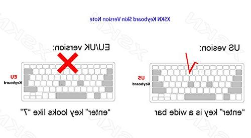 XSKN Hebrew Color Silicone Keyboard Cover for MacBook Air 13, 13 17 inch,