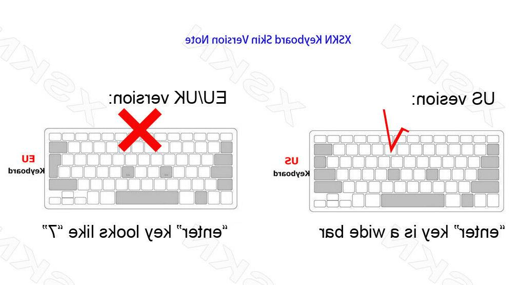 XSKN OS Shortcut Keyboard Cover Skin old Pro 13 15