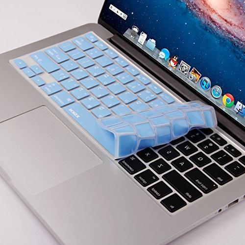 XSKN Hebrew Blue Color Skin Cover MacBook 13, Pro 15 17