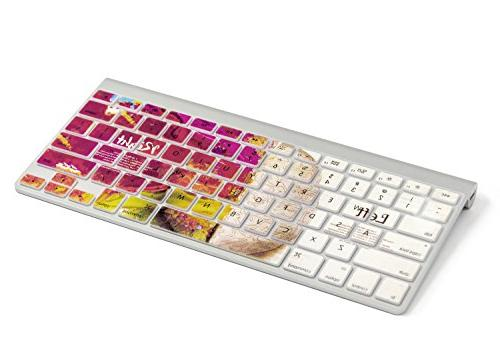 "Herngee Left and Brain keyboard Cover for Air 13"" MacBook 13"" 17"" and iMac Wireless Keyboard"