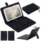HOT PU Leather Stand Case Cover W/ Micro USB Keyboard For Mo