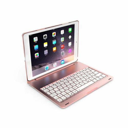 """For iPad 10.2"""" 2019 Backlit Keyboard Stand Rose"""