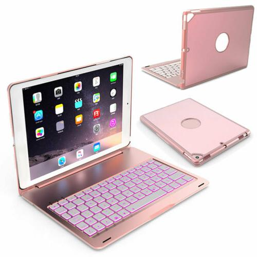 """For 10.2"""" 2019 Aluminum Keyboard Stand Case Rose"""
