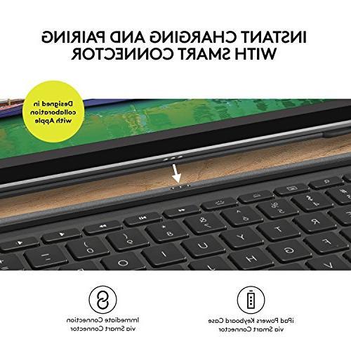 Logitech iPad Pro inch   SLIM Backlit, Wireless Keyboard Smart Connector