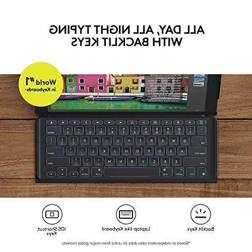 Logitech inch Case   SLIM COMBO Backlit, Wireless Keyboard and Smart