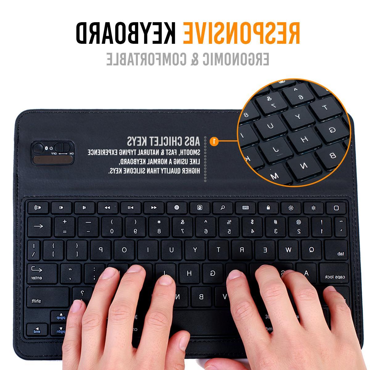 iPad Pro 10.5 Keyboard Detachable Leather Folio