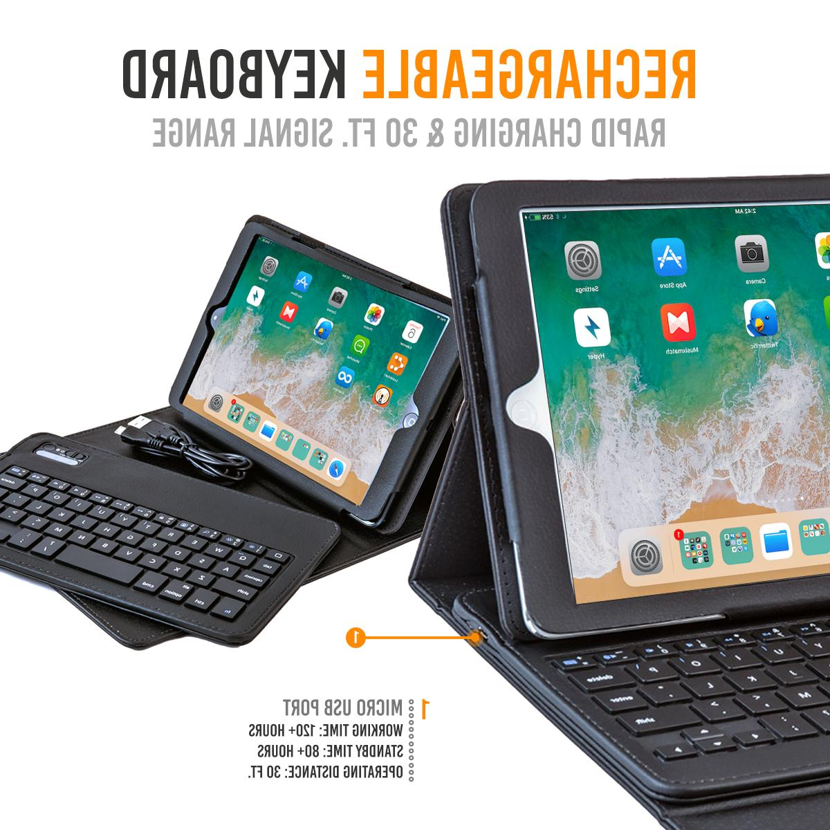 iPad Keyboard Wireless Detachable Leather