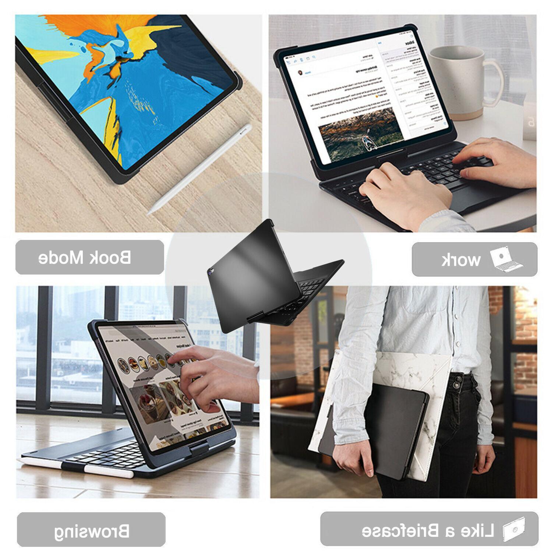 iPad Pro Keyboard Case Backlight Rotatable Smart Cover Keyboard