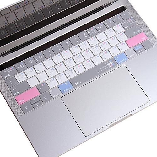 JRC 3th Shortcut OS Cover, Ultra Thin Keyboard Protector for MacBook Pro Layout