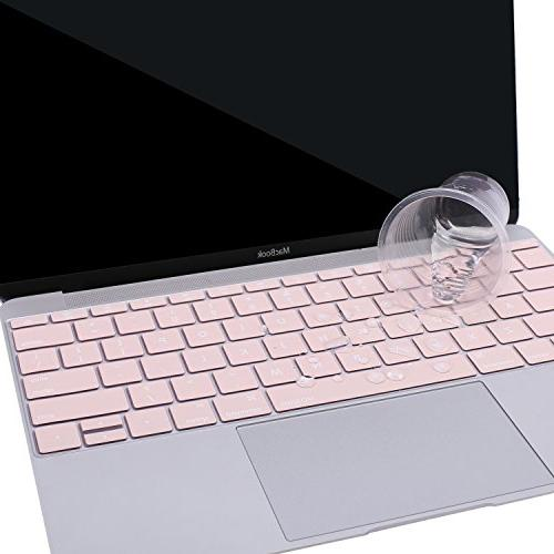 MOSISO Silicone Keyboard Compatible Inch Release Without Touch Bar, New MacBook Inch Protective Skin, Rose Quartz