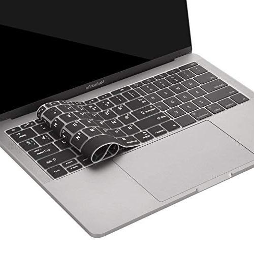 MOSISO Keyboard MacBook 2017 & A1708 & New MacBook Inch Protective Russian/English