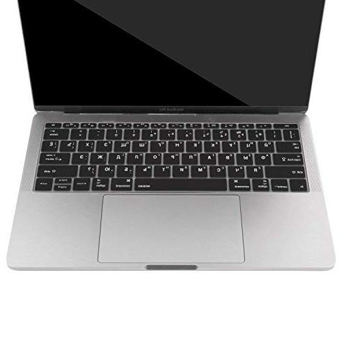MOSISO Keyboard MacBook Pro 2017 A1708 No & 12 Inch Russian/English Black