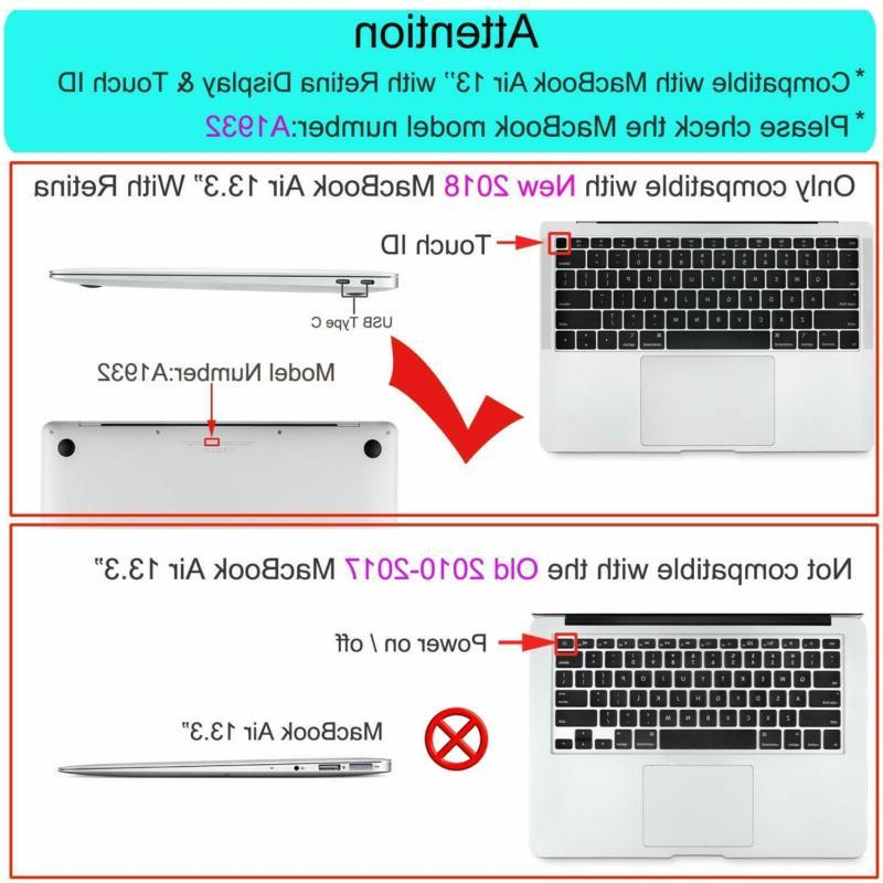 Mosiso Keyboard Cover Newest Macbook 13 Inch