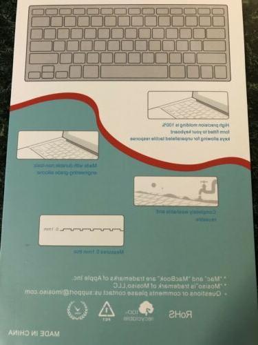 Mosiso Keyboard Cover Macbook Blue Ombré Design