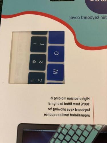 Mosiso Cover Macbook Blue Ombré Design Silicone Ultra Thin