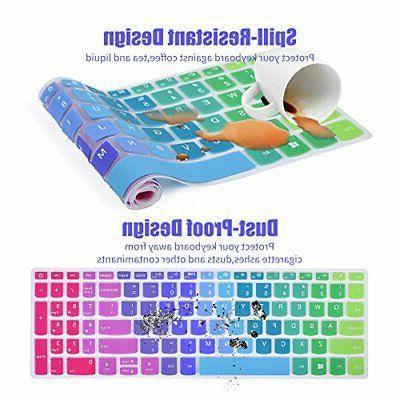 "Keyboard Cover Lenovo 15.6"" 15 CaseBuy Rainbow"