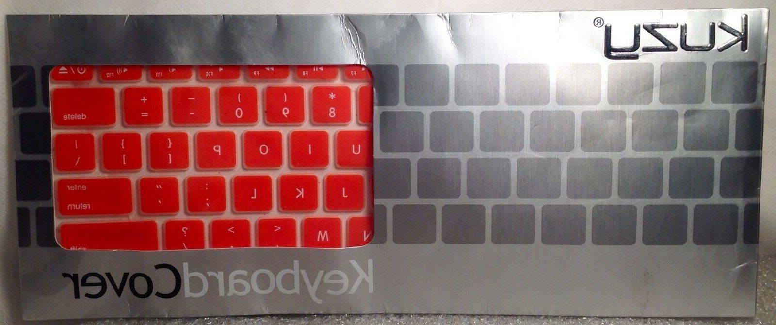 keyboard cover orange silcone for macbook new