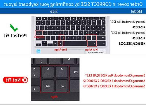 Colorful Keyboard Skin Compatible Pro 12.3 XE510C24 XE513C24 Plus Soft-Touch Protective Skin,