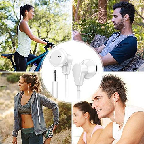 Palytte Premium Earbuds Headphones MicRemote Control Phone Samsung Android 3.5
