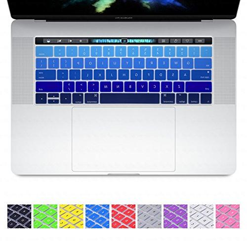 DHZ Silicone Skin Apple New Pro 13 15 Inch Display with Touch Layout - Ombre