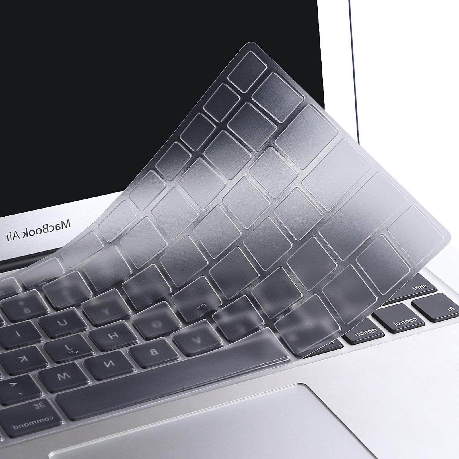 2XBlack Silicone Keyboard Cover Protector for MacBook Air Pr