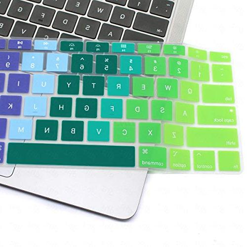 DHZ Keyboard for MacBook Inch 2018 ,Ultra Slim Protector,Rainbow