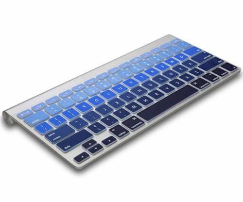 "Kuzy Keyboard Mix BLUE Ombre MacBook Pro 17"""