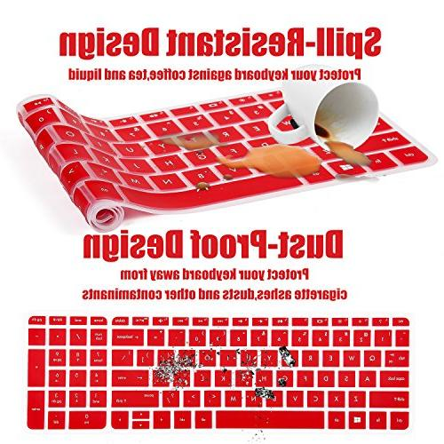 Keyboard Cover HP 15-BS015DX 15-BA009DX 15-BA010nr 15-BK163DX 15-AY103DX, Red