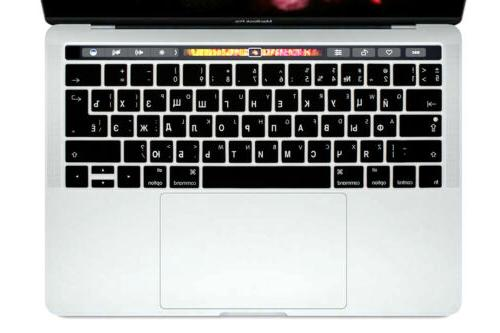"""Russian Silicone Keyboard Cover Skin For MacBook Pro 13""""15""""T"""