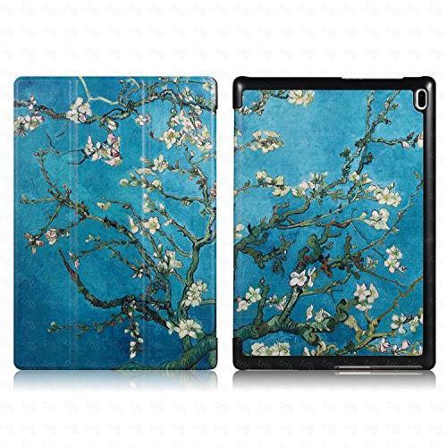 Lenovo Tab 4 Case - Ultra Cover Slim Tri-fold Case for 10 inch Flower