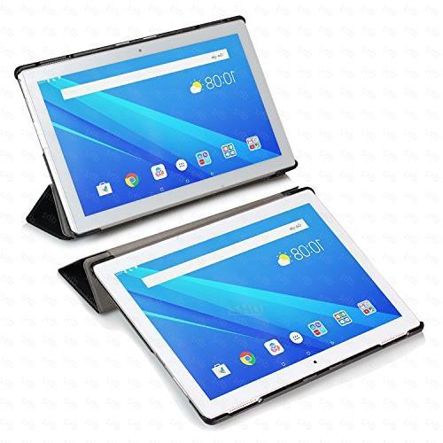 Lenovo Tab Case - Ultra Lightweight Slim Tri-fold 10 inch tablet Flower