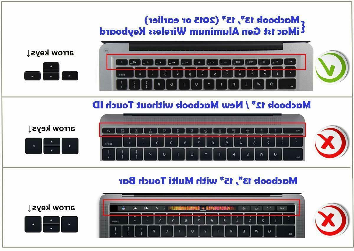 XSKN Arabic Keyboard Silicone Skin Macbook 13.3 15.4