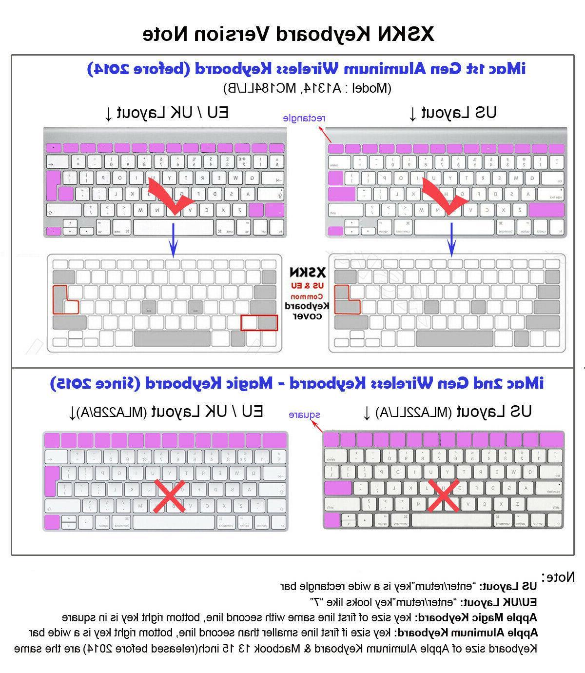 XSKN Keyboard Silicone Skin old Macbook 13.3