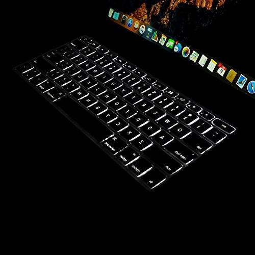 Mosiso Premium Shortcuts Keyboard Cover 2017 & A1708 No Touch & MacBook Inch A1534 Protective TPU Clear