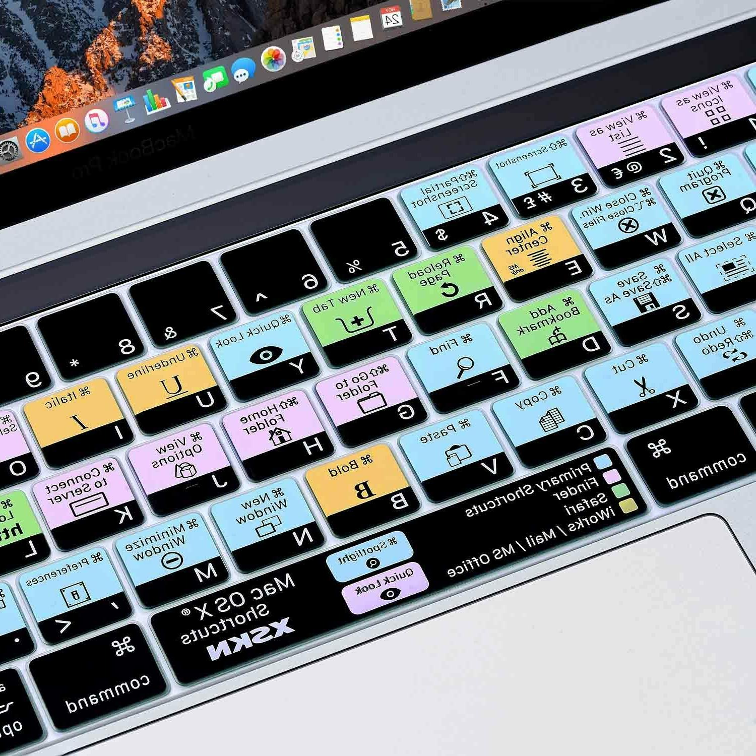 XSKN Mac OS X Shortcut MacBook 13.3/15.4 With Touch