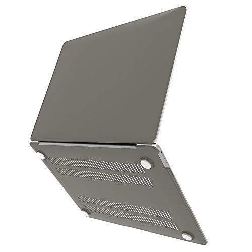 """Raidfox Retina 2-in-1 Case and Keyboard Cover for Mac Book 12"""" Frosted Grey"""