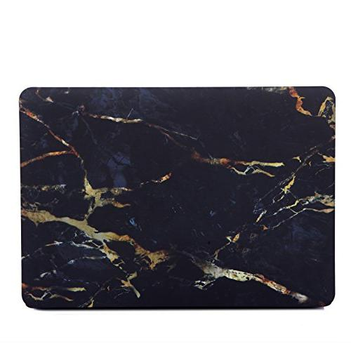 HDE Plastic Hard and MacBook 13 On Protective Black Design Fits Old Inch