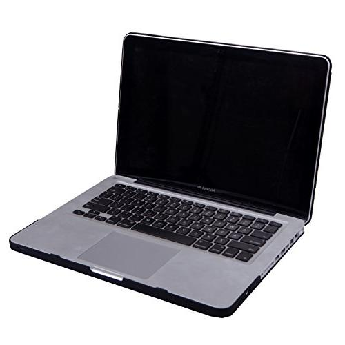 HDE Plastic and MacBook Pro On Hard Black Marble Design Old Macbook Pro 13 Inch Model CD Drive