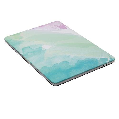 MOSISO MacBook Pro Case Release Touch Plastic Pattern & Keyboard Cover & Screen Protector Compatible Mac Pro Rainbow Mist