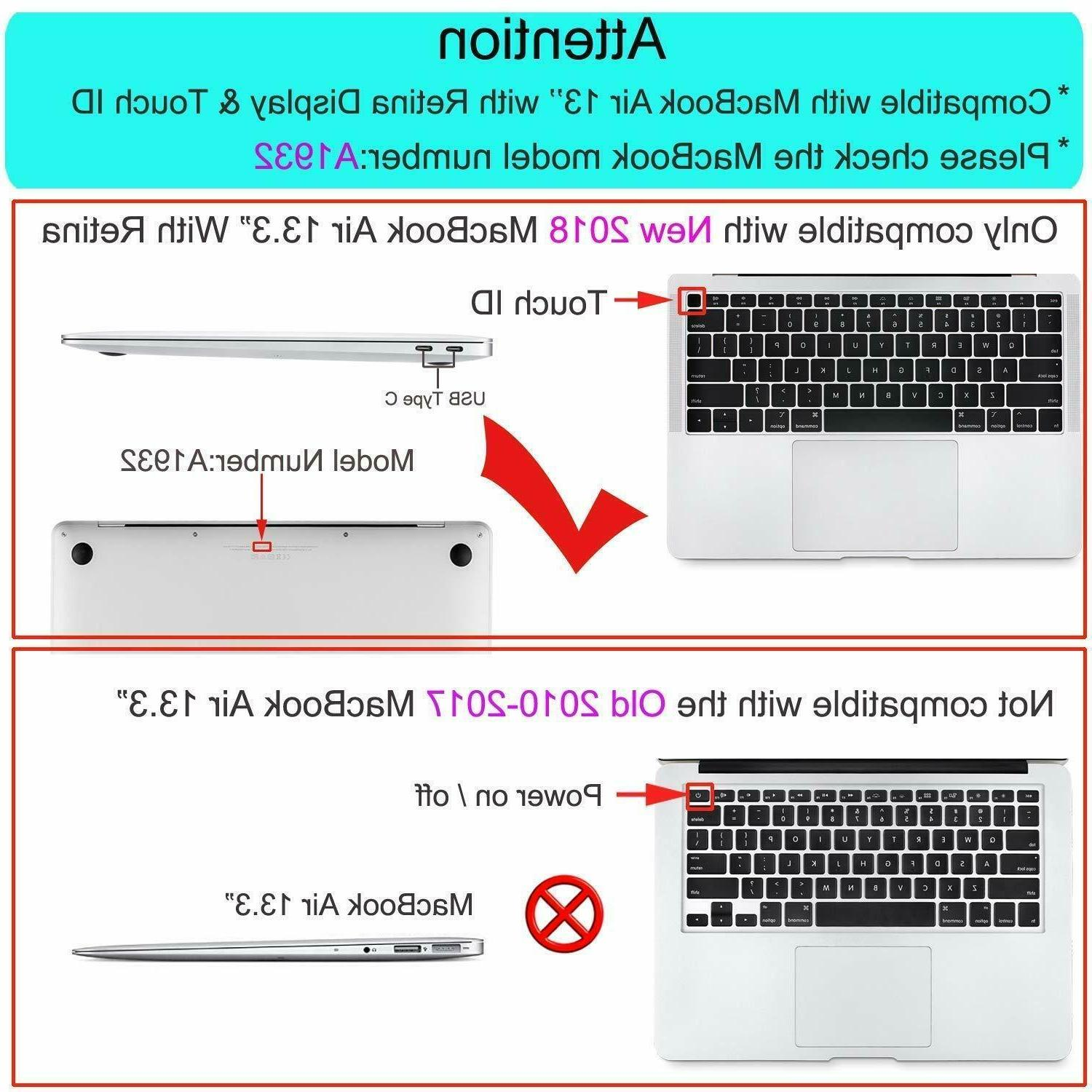 Mosiso Matte Case for Macbook Air inch A1932 Keyboard 2018