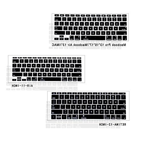"""inch, JOKHANG Silicone for MacBook Air 11.6"""" Models: - - BLACK"""