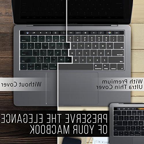 Kuzy - Keyboard Cover NEWEST MacBook Bar or Release MacBook Keyboard Ultra TPU Skin CLEAR