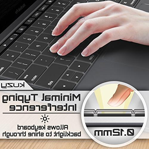 """Kuzy Keyboard Cover for MacBook Pro Touch Bar or 15"""" Release 2018 2016 MacBook Ultra Skin"""