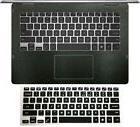 Matte black Palmrest Skin + Keyboard Cover for Dell Inspiron