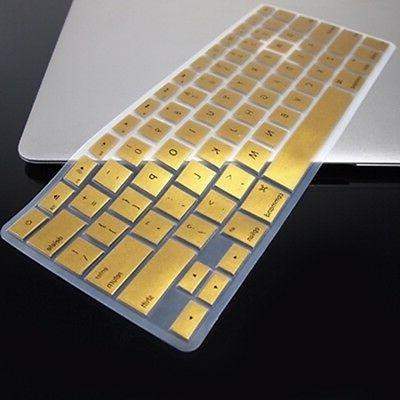 metallic gold keyboard cover skin