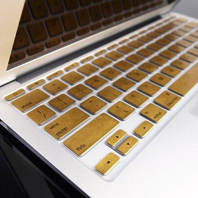 """METALLIC GOLD Keyboard Cover Skin for Old Macbook Air 11"""" A1"""