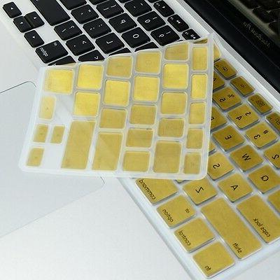 metallic gold silicone keyboard cover for macbook