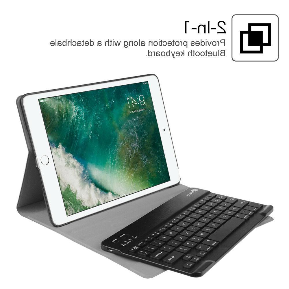 For iPad 9.7 inch Tablet Cover w/ Bluetooth Keyboard