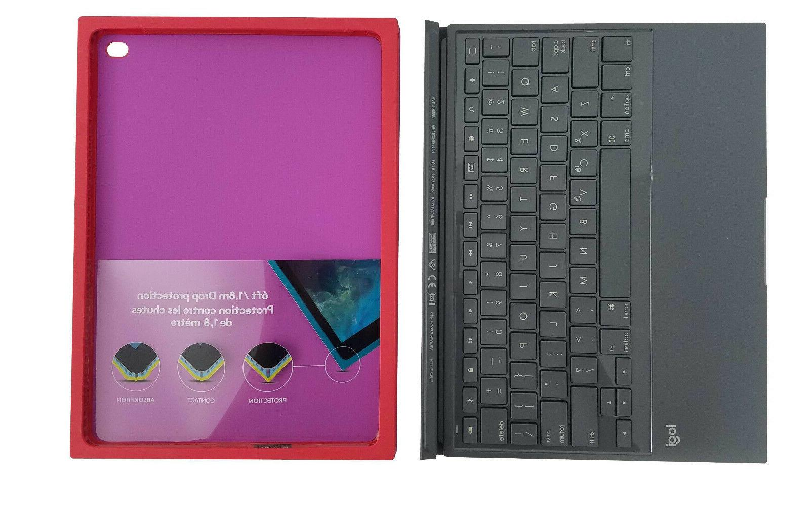 Logitech Blok UltraThin Cover Case iPad Red Violet New