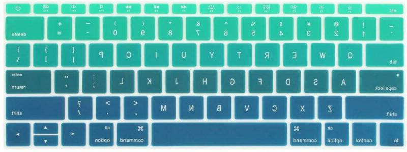 ombre color keyboard cover for new macbook
